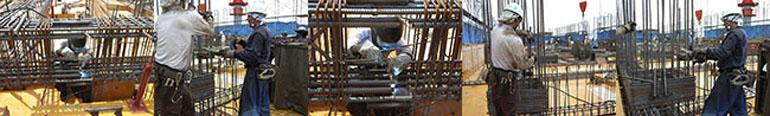 杭筋溶接、鉄筋溶接、メッシュNT溶接、フレアー溶接等、各種溶接や鉄筋工事。施工実績と地震が証明した信頼の鉄筋溶接継手。